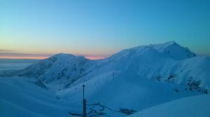 立山の夕陽