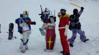 ガンダム雪原に立つ!めいほうスキー場にガンダム達が集合