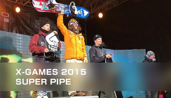 X-GAMES 2015スーパーパイプでで平岡卓が銀!優勝はダニー・デービス